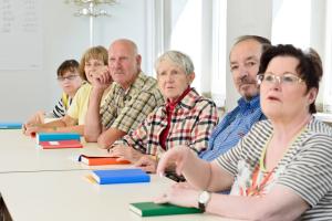 Seniorer på foredrag