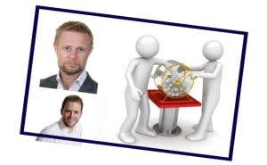 Illustrasjon: politikerne Høie og Lysbakken lotteri