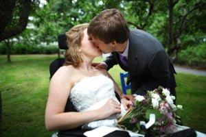 Carine og Sigurd på bryllupsdagen