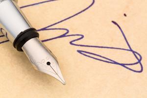 penn og signatur